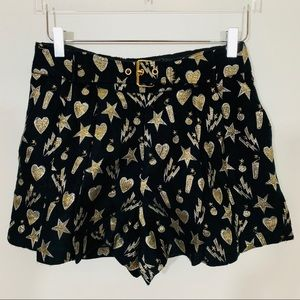 NWOT Jaspal high waist Shorts - Gold Bombs!  Boom!